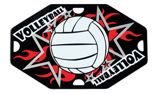 "1-5/8"" x 2-1/2"" Volleyball Street Tag"