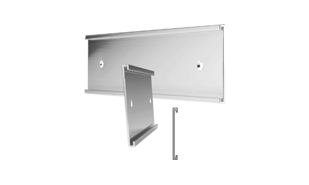 "Brushed Silver Aluminum Wall Sign Holder: 8"" x 2"""