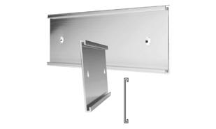"Brushed Silver Aluminum Wall Sign Holder: 10"" x 2"""