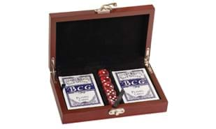 SALE! Deluxe Rosewood Card & Dice Gift Set