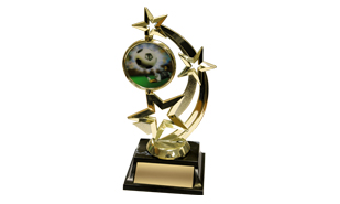 Star Achievement Award with Spinning Disc: 7""