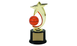 "8"" Basketball Spinning Achievement Award"