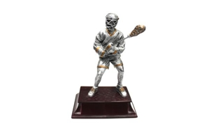 Pewter and Gold Lacrosse Player: 6-1/2""