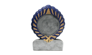Blue Universal Wreath Sculpture: 4-1/2""