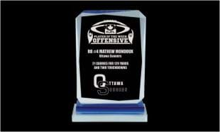 "4"" x 6-3/8"" Calgary Series Glass Award"