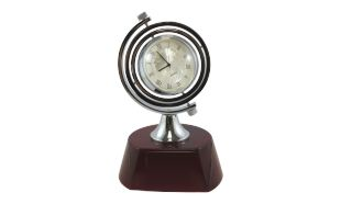 Rosewood Rotating Clock