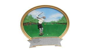 Female Golf Platter Sculpture: 6""