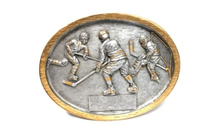 Hockey Oval Sculpture: 5-3/4""
