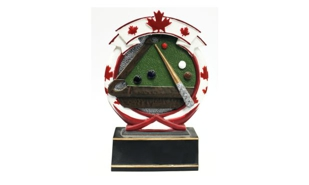Maple Leaf Billiards Sculpture: 5-1/2""