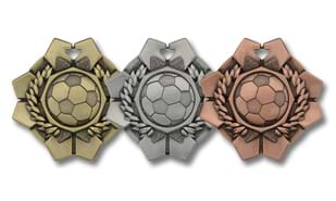 Imperial Soccer Medallion: Antique Silver 2""