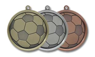 "Antique Bronze 2-1/4"" Mega Soccer Medallion"