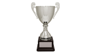 Harrington Series Silver Cup Trophy: 10-3/4""