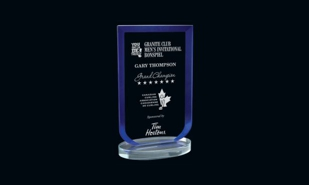 Blue Laurier Series Glass Award: 7-1/2""