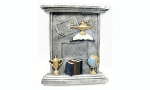 3-D Lamp od Knowledge Easel Plaque Sculpture