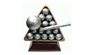 Billiards Sculpture: 6-1/4""