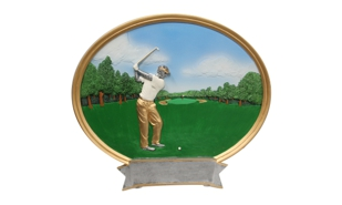 Male Golf Platter Sculpture: 8""