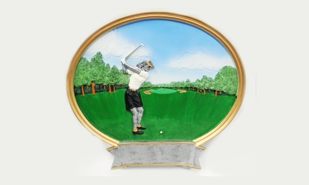 Female Golf Platter Sculpture: 8""