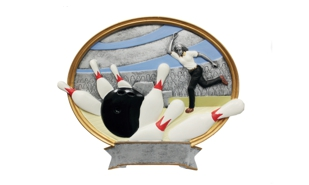 Female Bowling Platter Sculpture: 8""