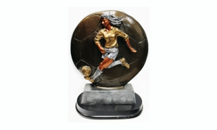Female Soccer Sculpture: 7""