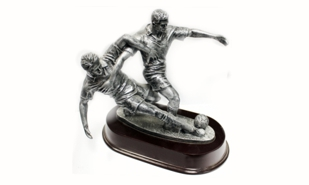 2-Man Soccer Sculpture: 7-3/4""