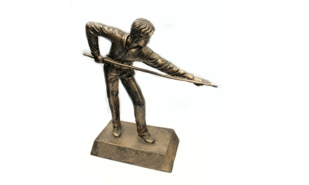 Male Billiards Sculpture: 8""