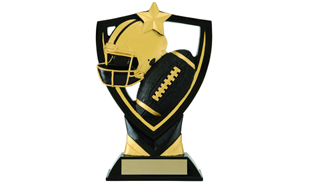 Apex Shield Football Sculpture: 6-1/2""
