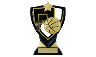 Apex Shield Basketball Sculpture: 6-1/2""