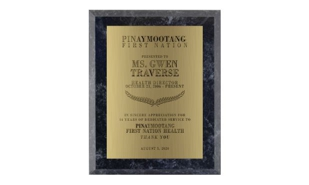"Black Ash Laminate Plaque: 4-1/2"" x 6"""