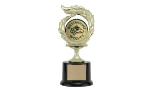 "Flame Trophy with 2"" Insert: 7-3/4"""