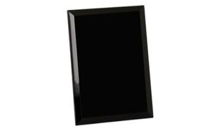 "Black Glass Mirrored Plaque: 6"" x 8"""