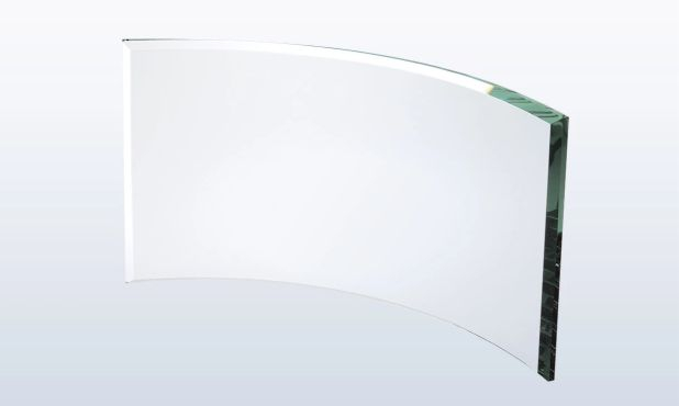 "Rectangle Jade Glass Award: 9"" x 5"""