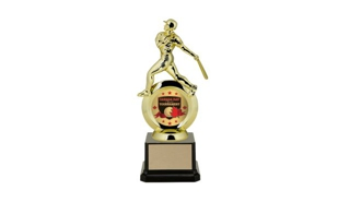 "First Choice Male Baseball Trophy with 2"" Insert Holder: 8-1/4"""