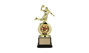 "First Choice Male Basketball Trophy with 2"" Insert Holder: 8-1/4"""