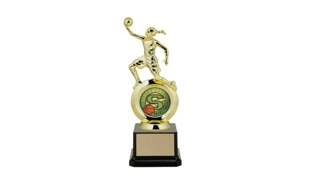"First Choice Female Basketball Trophy with 2"" Insert Holder: 8-1/4"""