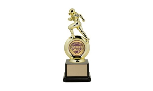 "First Choice Football Trophy with 2"" Insert Holder: 8-1/4"""