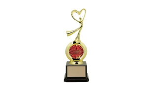 "First Choice Modern Dance Trophy with 2"" Insert Holder: 8-1/4"""