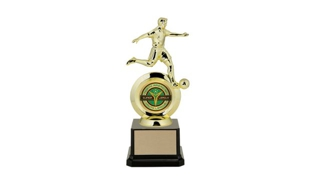 "First Choice Male Soccer Trophy with 2"" Insert Holder: 8-1/4"""