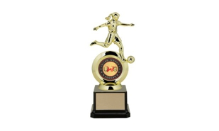 "First Choice Female Soccer Trophy with 2"" Insert Holder: 8-1/4"""