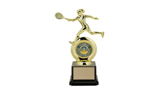 "First Choice Female Tennis Trophy with 2"" Insert Holder: 8-1/4"""