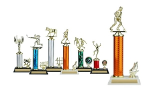 Circular Column Trophy with Trim: 12-1/2""