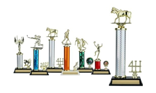 Circular Column Trophy with Trim: 13-1/2""