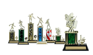 Rectangular or Oval Column Trophy with Trim: 8""