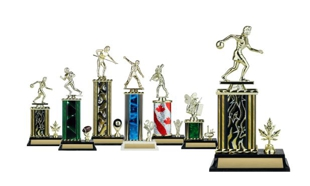 Rectangular or Oval Column Trophy with Trim: 9-1/2""