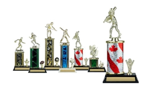 Rectangular or Oval Column Trophy with Trim: 10-1/2""