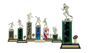 Rectangular or Oval Column Trophy with Trim: 11-1/2""