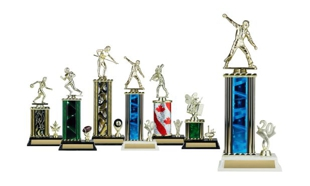Rectangular or Oval Column Trophy with Trim: 12-1/2""