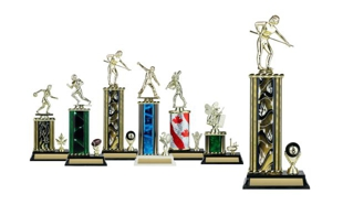 Rectangular or Oval Column Trophy with Trim: 13-1/2""