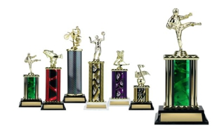 Rectangular or Oval Column Trophy: 9-1/2""