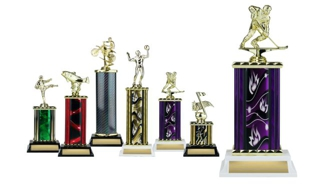 Rectangular or Oval Column Trophy: 10-1/2""