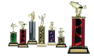 Rectangular or Oval Column Trophy: 11-1/2""